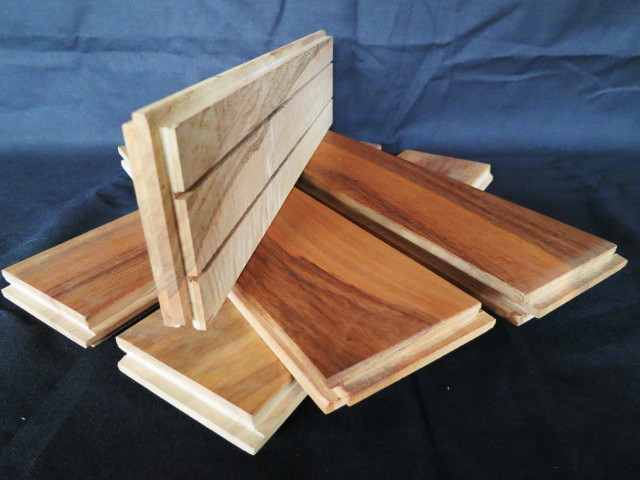 Planks of walnut parquet